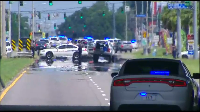 Raw: Police officers killed in Baton Rouge
