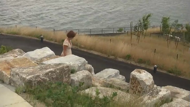 Four huge man-made hills have been built on Governors Island, offering visitors expansive 360-degree views of New York Harbor and lower Manhattan. (July 18)