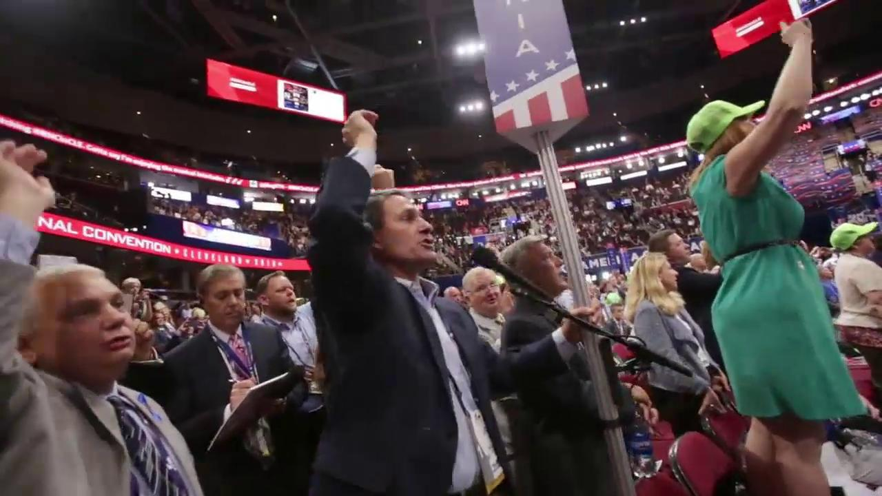 Ken Cuccinelli leads 'roll-call vote' chant at RNC