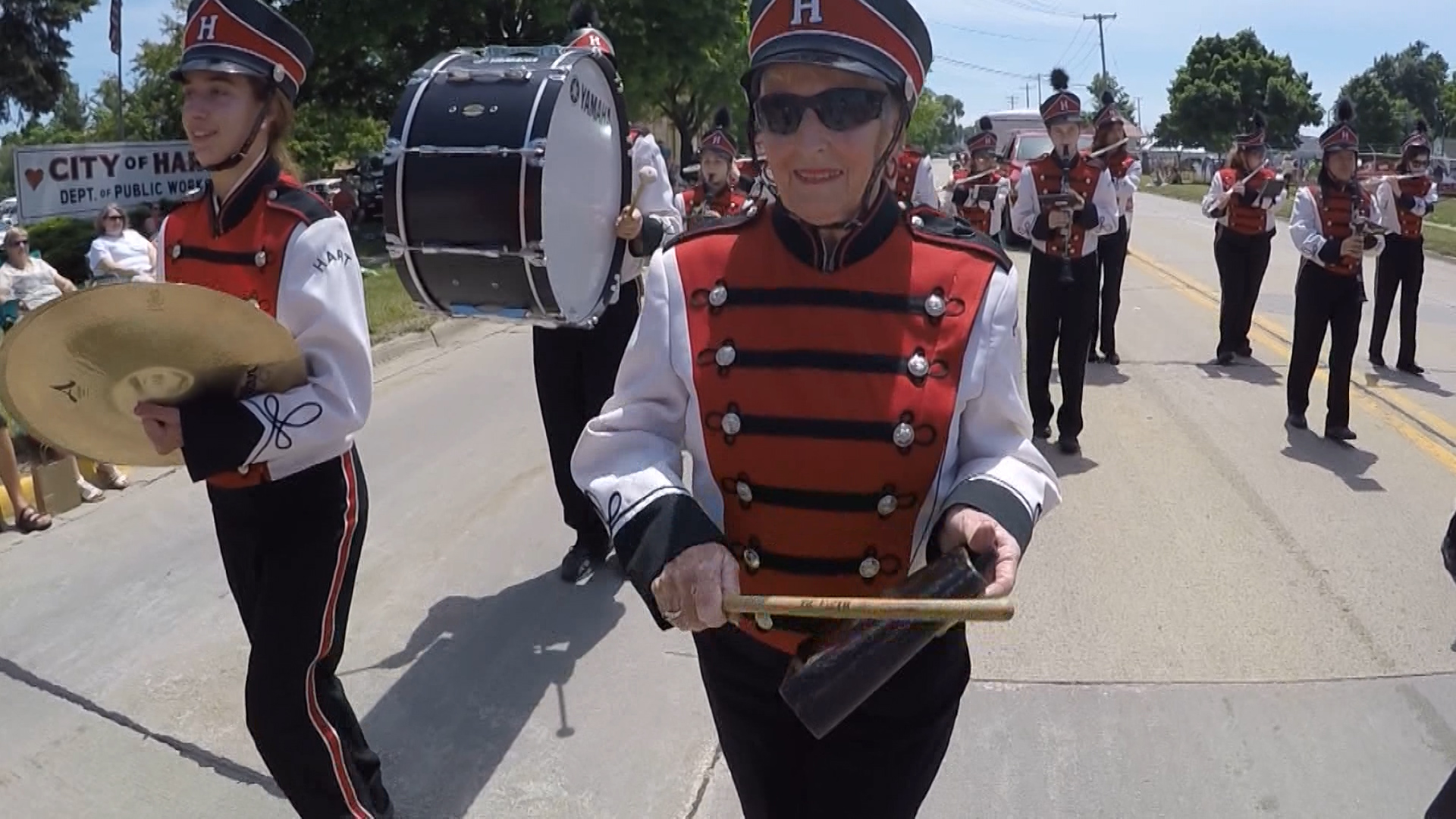 80-year-old plays in high school band one more time