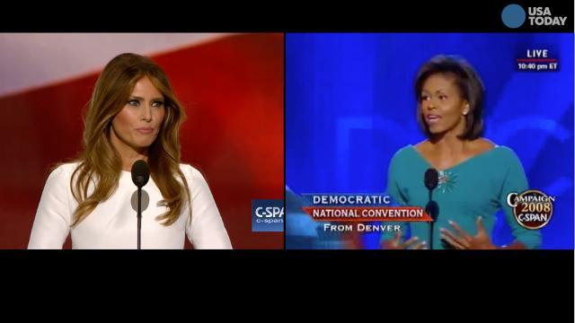 Was Melania Trump's speech plagiarized from Michelle Obama?