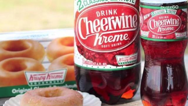Krispy Kreme is pairing with soft beverage company, Cheerwine, to create a drink that supposedly tastes like cheery cola and donuts. Patrick Jones (@Patrick_E_Jones) has the details.