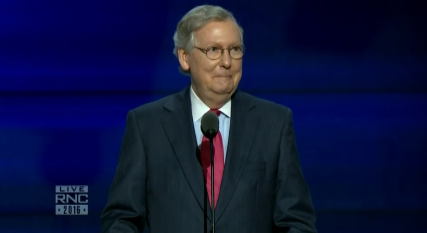 Mitch McConnell says why Clinton shouldn't be president