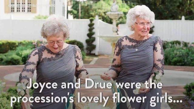 Bride and Groom Invite Their Grandmas to Be Flower Girls