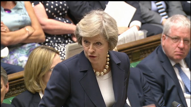 The UK's new prime minister Theresa May faced her first question time in office, speaking on a wide range of issues including terrorism and trade with Europe. (July 20)