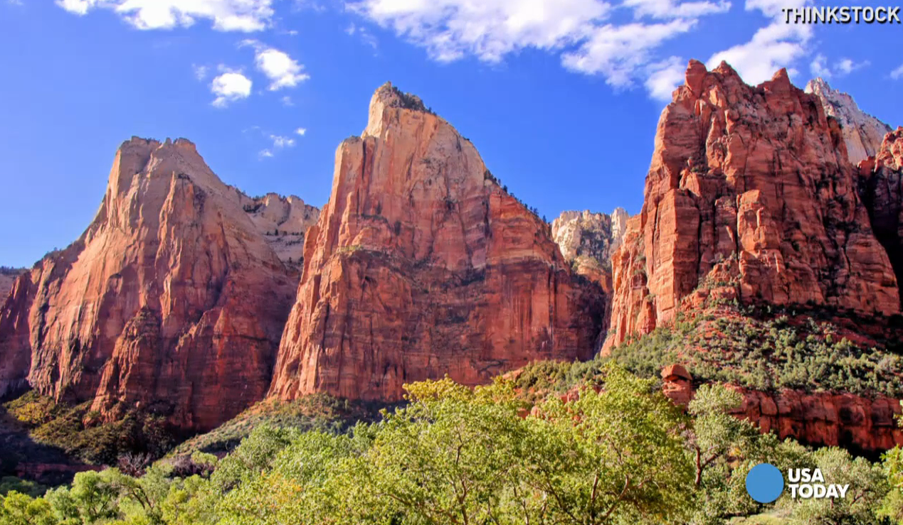 It's easy to see what is so spectacular about Zion National Park. Video shot by Marilyn Chung, The Desert Sun.