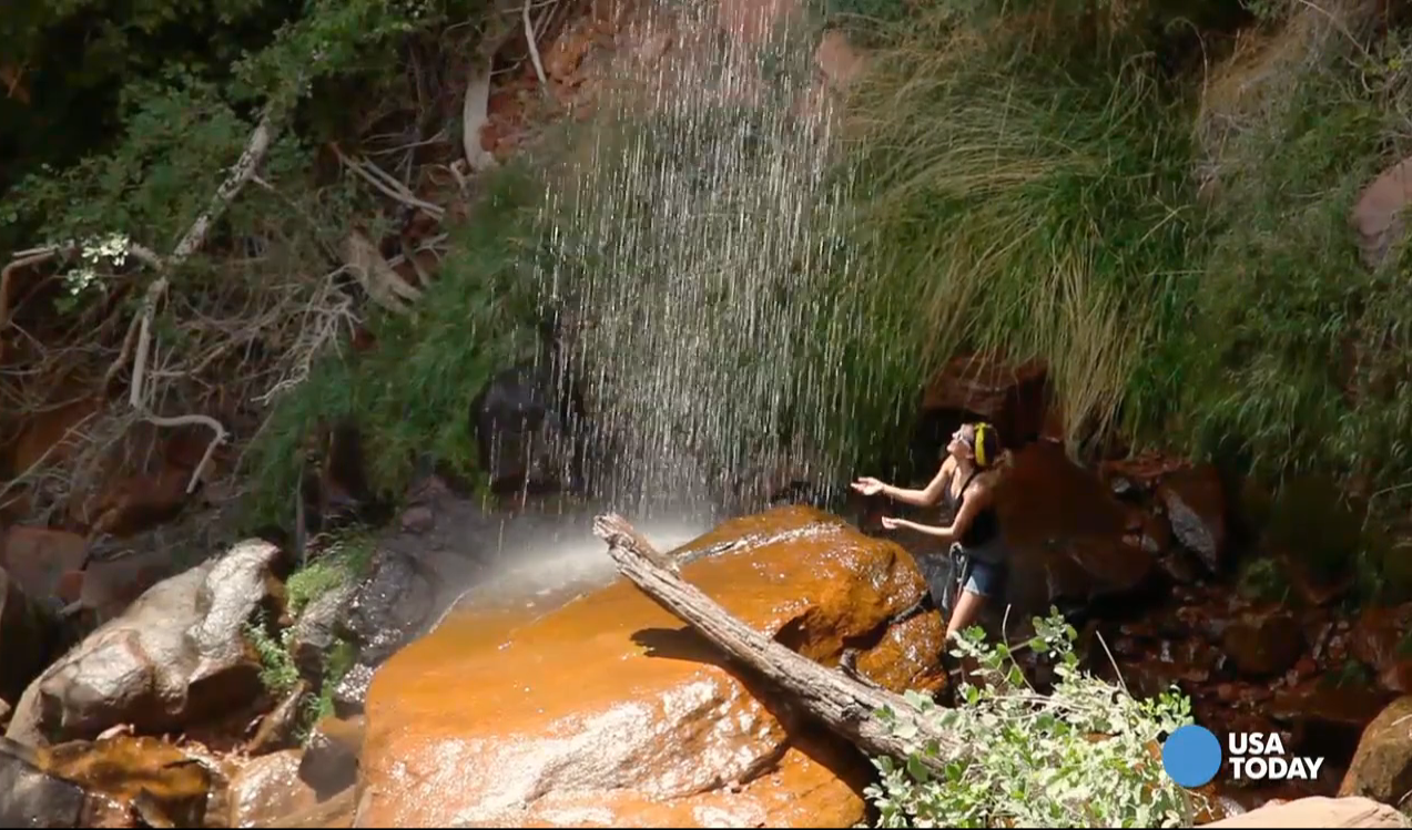 Visitors quickly see why Zion National Park gets its name from the Hebrew word for refuge. Video shot by Marilyn Chung, The Desert Sun.