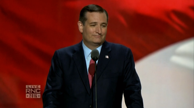 Ted Cruz gets booed off the RNC stage