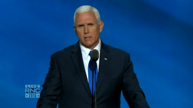 Mike Pence in the spotlight at the Republican National Convention