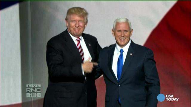 Trump and Pence awkwardly air kissed at the RNC
