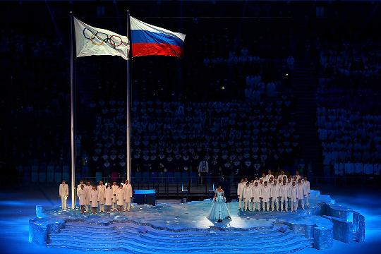 In this July 27, 2012 file photo, the Russian team is shown during the Opening Ceremony at the 2012 Summer Olympics in London.