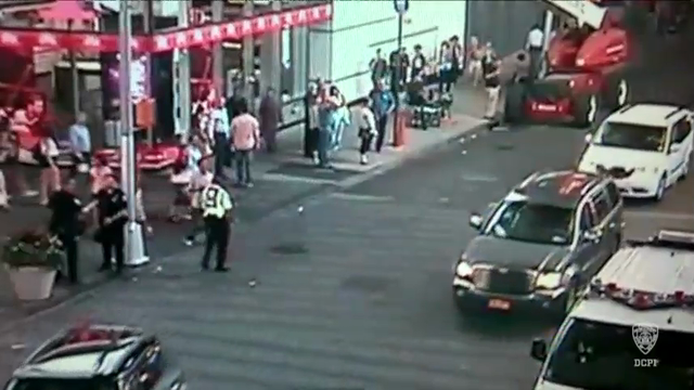 NYPD Video Shows Device Tossed Into Police Van