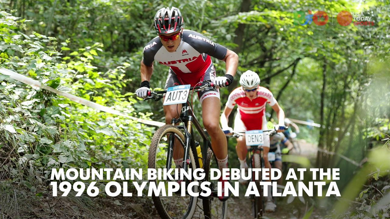 Olympians cyclist Georgia Gould explains what Olympic mountain biking is like.
