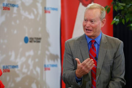 USA TODAY's Susan Page sits down to talk with Oklahoma City Mayor Mick Cornett about the politics of the day from the 2016 Republican National Convention.