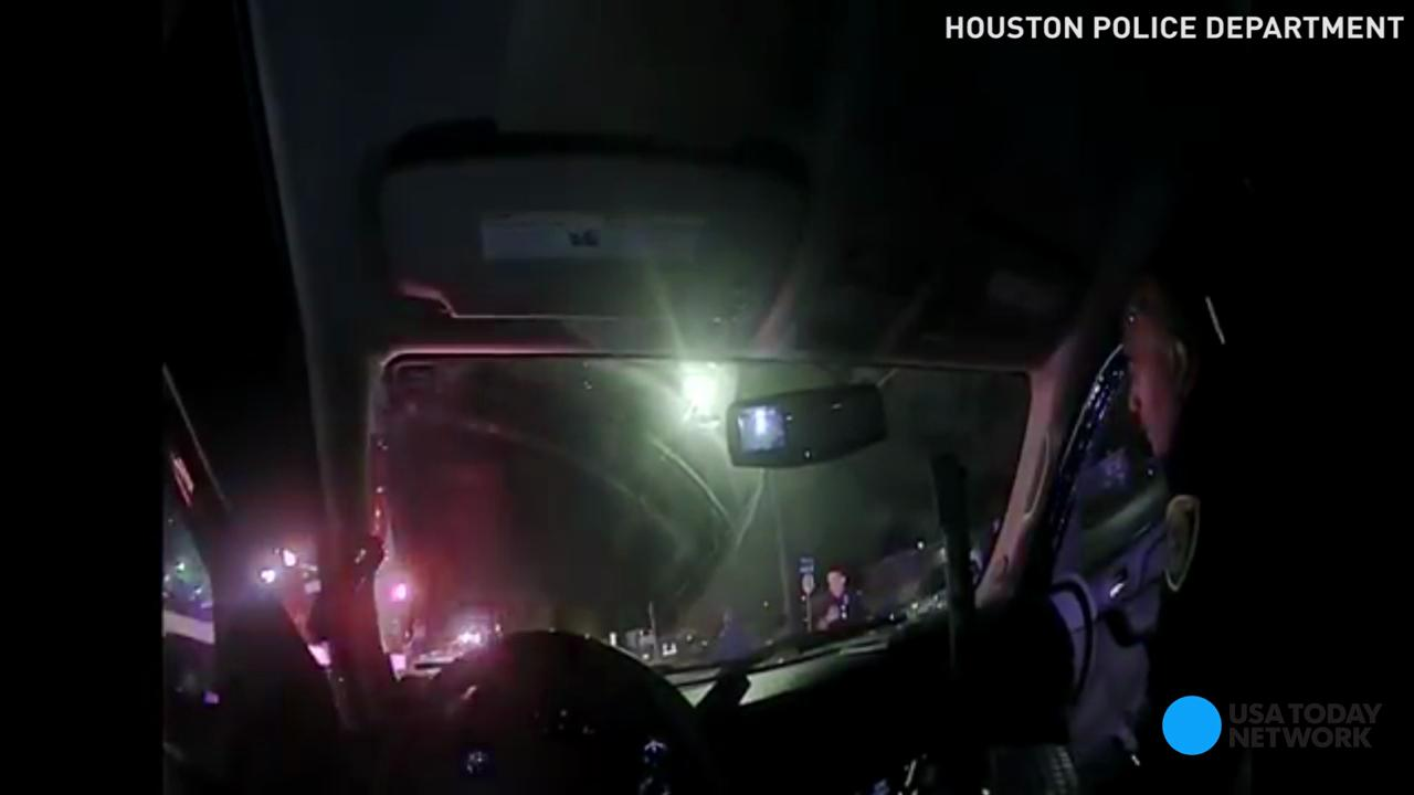 Houston officials released police body cam video showing the bloody aftermath of the shooting death by police of Alva Braziel earlier this month. Warning: This video contains graphic content.