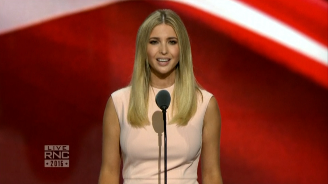 Ivanka Trump: My father is color-blind and gender-neutral