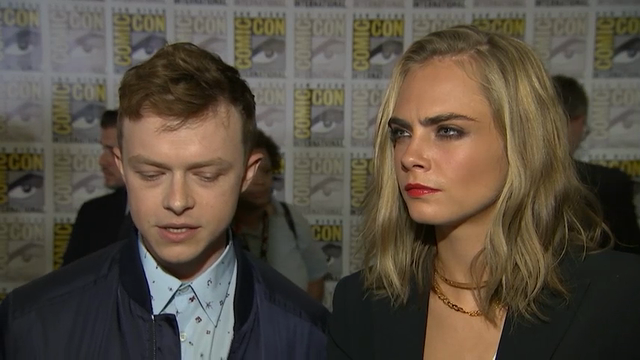 "Stars of sci-fi film ""Valerian and the City of a Thousand Planets,"" Dane DeHaan and Cara Delevingne, joke about their on-set chemistry while director Luc Besson reveals how excited he is about the special effects. (July 22)"