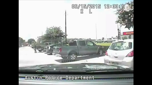 """Video shows a white Austin, Texas, police officer violently throwing a black woman to the ground during a traffic stop, followed by another white officer telling her black people have """"violent tendencies"""" and whites are justifiably afraid. (July 22)"""
