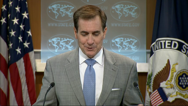 State Department spokesman John Kirby busted a reporter playing Pokemon Go on his phone during the daily US State Department press briefing on Thursday. (July 22)