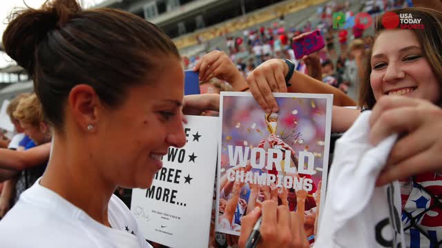 U.S. soccer player Carli Lloyd is ready to play for gold in the Rio Olympics.