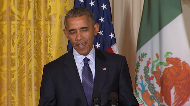 President Barack Obama fiercely rejected Donald Trump's depiction of an America in crisis on Friday, arguing that violent crime and illegal immigration have plunged under his leadership to their lowest rates in decades. (July 22)