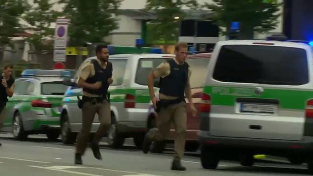 Police told the public to clear the streets of Munich as a manhunt was underway Friday for a shooter or shooters who opened fire at a shopping mall. (July 22)