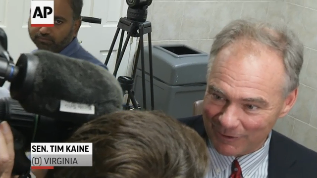 Snatching attention from newly crowned Republican nominee Donald Trump, the Hillary Clinton campaign signaled that an announcement on her VP pick was imminent.  Virginia Senator Tim Kaine was a leading contender early on. (July 22)