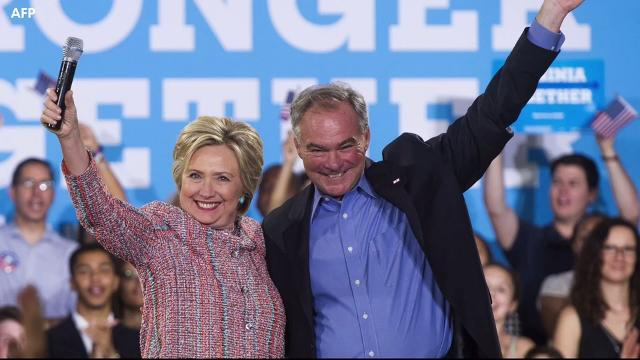 Hillary Clinton names Tim Kaine as her VP pick