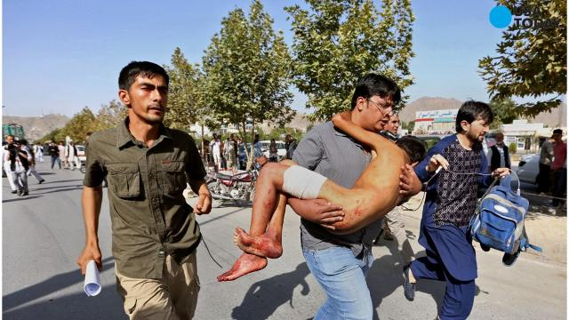 Suicide bombers attacked a demonstration in Kabul, Afghanistan Saturday, killing more than 50 people and injuring over 200.