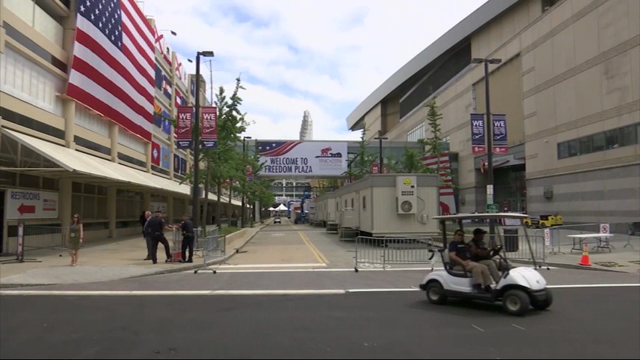 Security in Philadelphia is heightened ahead of the Democratic National Convention, which starts on Monday. (July 23)