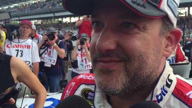 Tony Stewart drives his final Brickyard 400