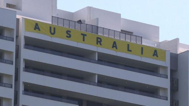 """The official opening of the Olympic Village in Rio turns to fiasco with the discovery of blocked toilets and leaky pipes, prompting Australia to call the facility """"not safe"""". Video provided by AFP"""