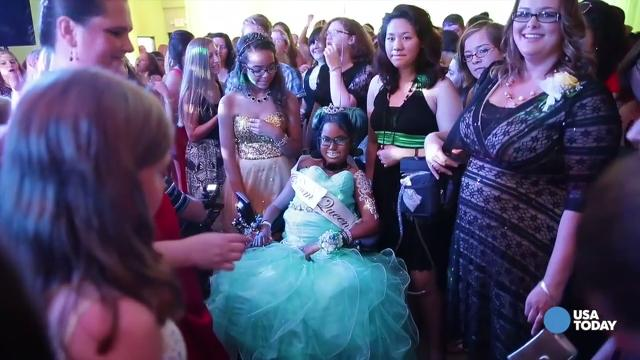 The Appleton, Wisconsin teen didn't let an incurable disease stand between her and the fairytale prom she had always dreamed of.