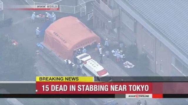 At least 15 people are dead after a knife attack in Japan
