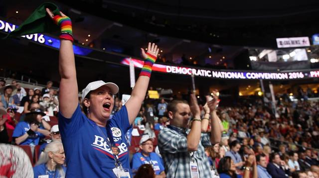 Bernie Sanders delegates and supporters speak out about the DNC email scandal, the Democratic Party and how they should move forward. Delegates on the floor during the Democratic National Convention often booed as Clinton was mentioned.
