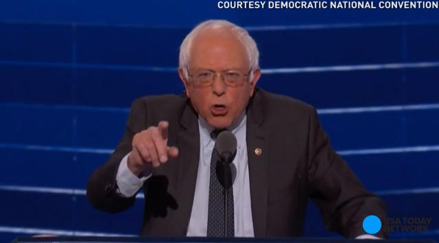 Bernie Sanders gave his support to Hillary Clinton, saying she will be a president who understands the real issues and will bring America together during the first night of the Democratic National Convention.