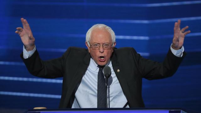 """After hearing boos earlier in the afternoon, Sanders asked supporters not to protest as a """"personal courtesy."""" Video provided by Newsy"""