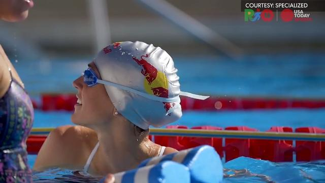 Triathlete Gwen Jorgensen makes her second Olympic appearance.