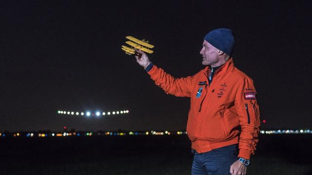 This solar-powered plane FINALLY made it around The world