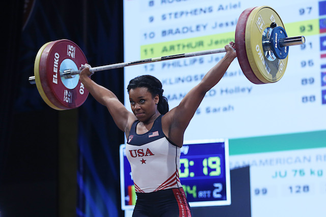 Get to know weightlifter Jenny Arthur.
