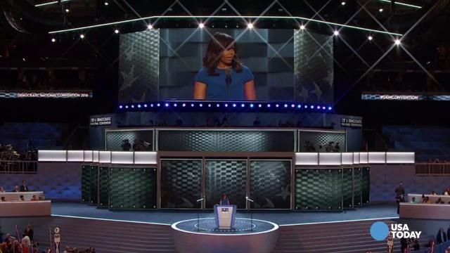 Michelle Obama's DNC speech: Key moments