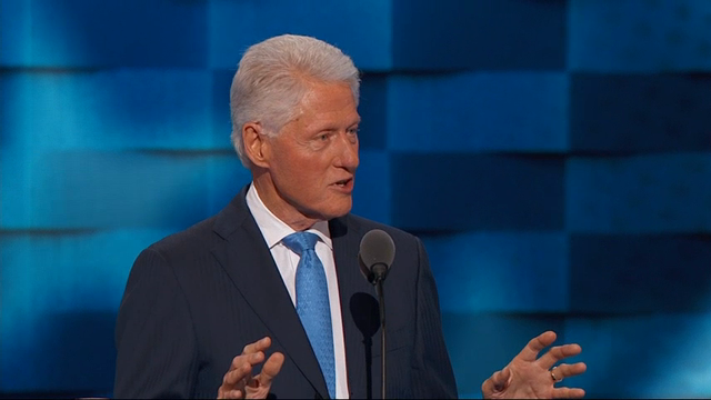 Bill Clinton Gives Impassioned Speech on Hillary