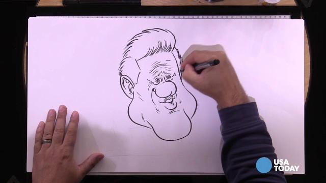 USA TODAY Art Director Jeff Dionise draws Bill Clinton