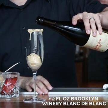 Would you try these wine ice cream floats?