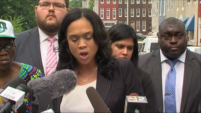 State's Attorney Marilyn Mosby is defending the prosecution of six officers charged in the Freddie Gray case and says she still blames police for the young black man's death. (July 27)