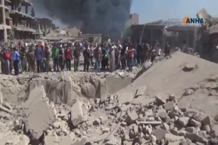 At least 44 people were killed and 140 injured Wednesday in an explosion in the northern Syrian town of Qamishli. The Islamic State extremist group, which has carried out previous bombings against Kurds in the area, has claimed responsibility.
