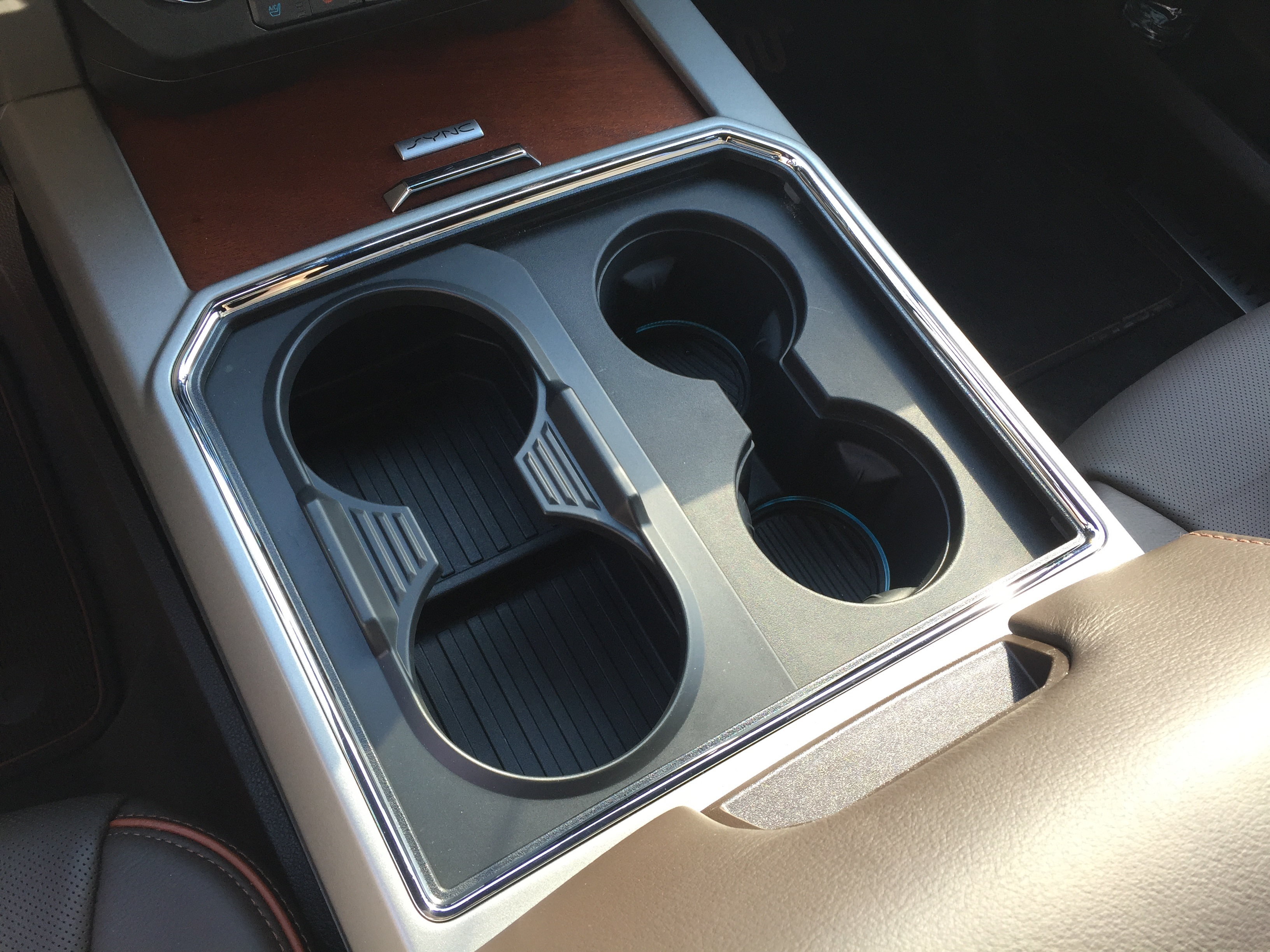 The pickup will have cupholders that switch from two to four in front