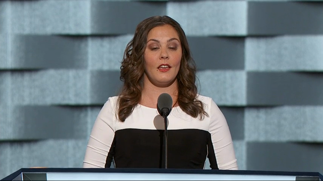 Democrats are paying tribute to the victims of recent mass shootings in the United States, with family members and survivors speaking at the Democratic National Convention in Philadelphia. (July 27)