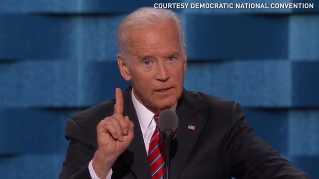 Joe Biden spoke bluntly to the crowd at the Democratic National Convention saying the threats to America are too great to elect Donald Trump president.