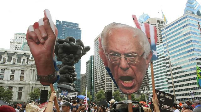 Bernie Sanders supporters rally in Philly